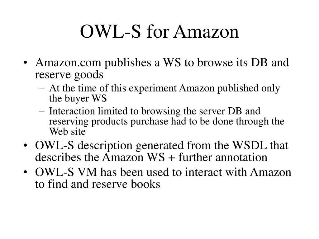 owl s for amazon l.