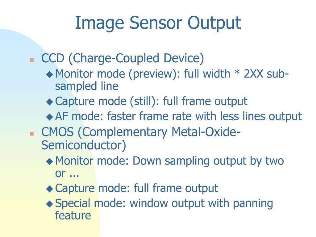 Image Sensor Output