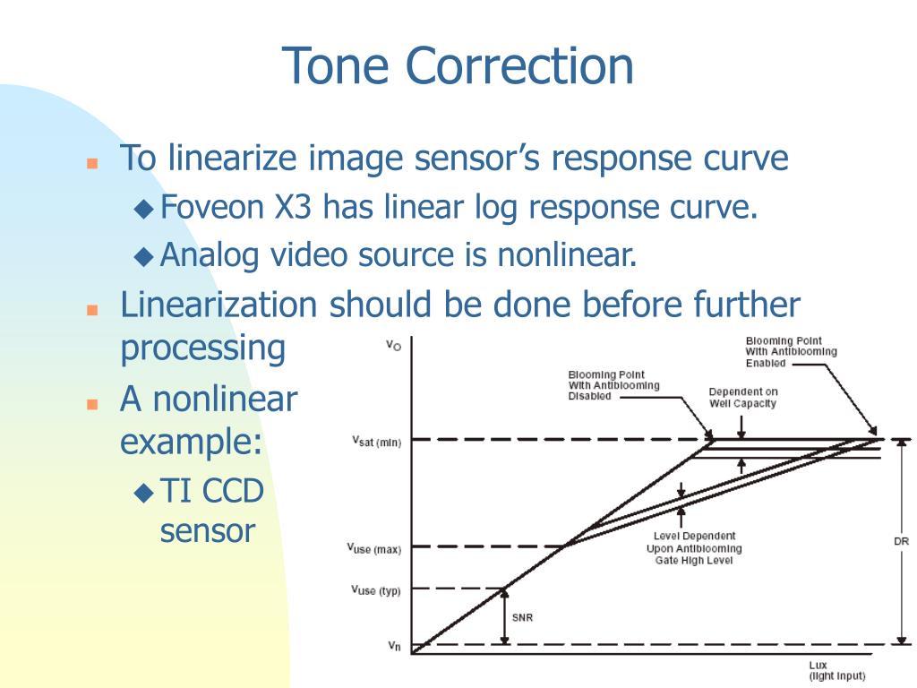 Tone Correction