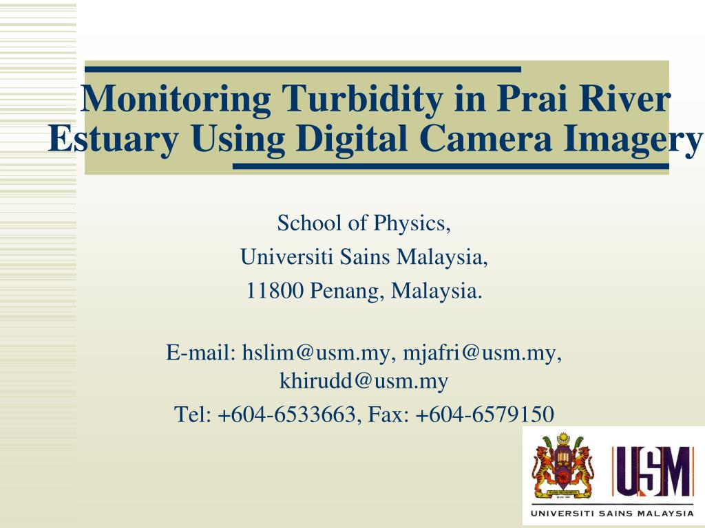 monitoring turbidity in prai river estuary using digital camera imagery l.