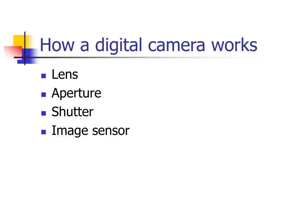 How a digital camera works