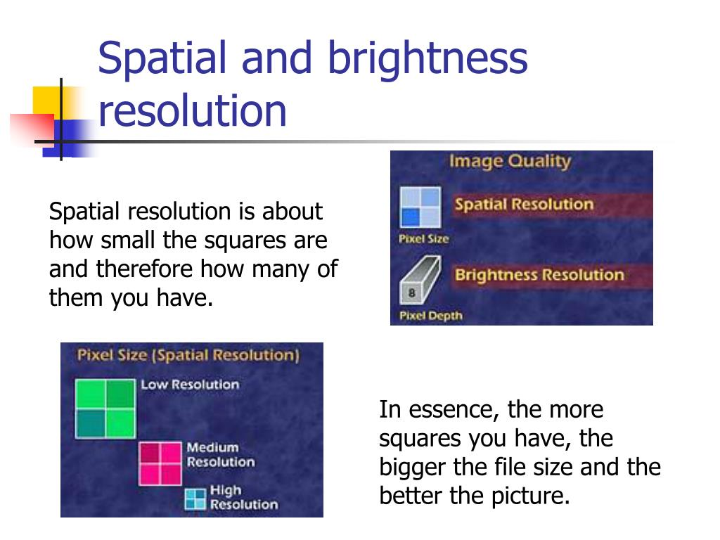 Spatial and brightness resolution
