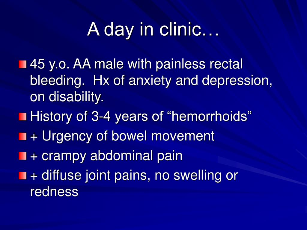 A day in clinic…