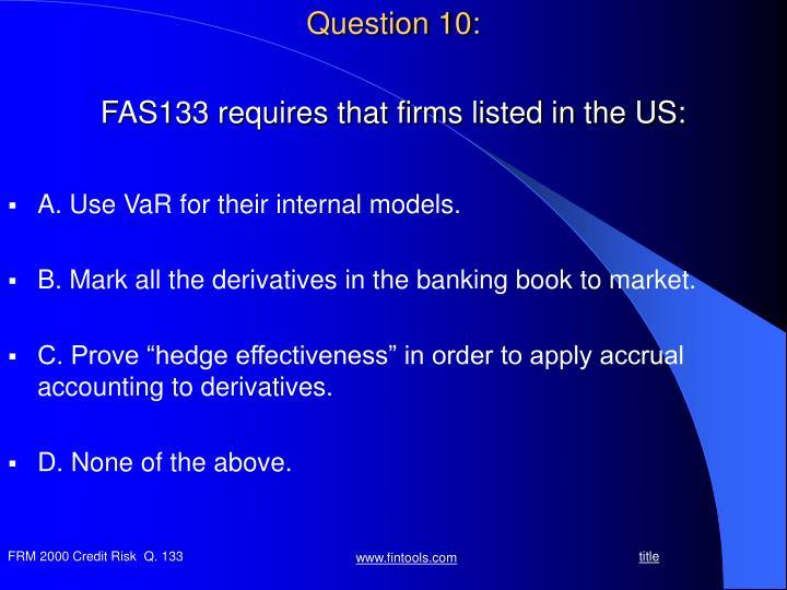 Question 10: