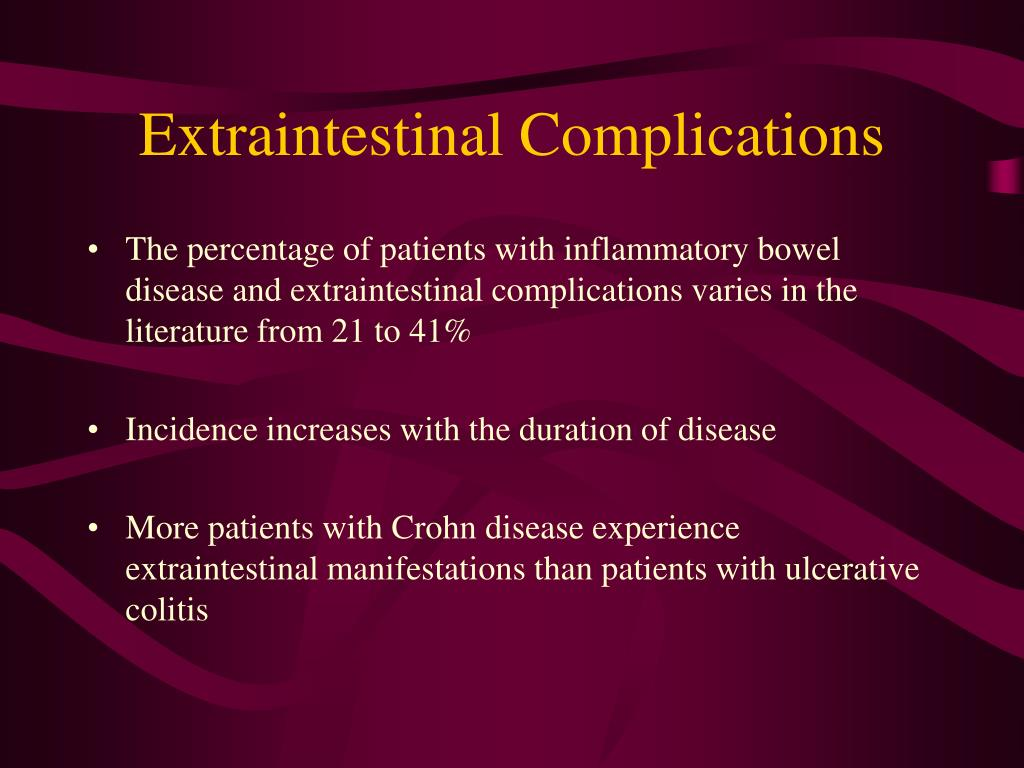 Extraintestinal Complications