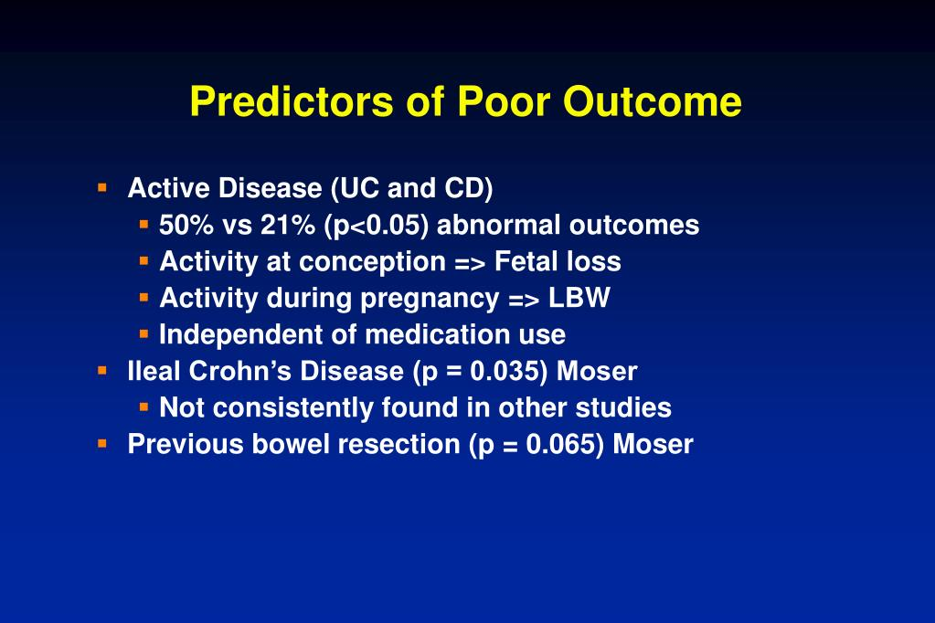 Predictors of Poor Outcome
