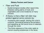dietary factors and cancer43