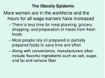 the obesity epidemic55