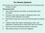 the obesity epidemic68