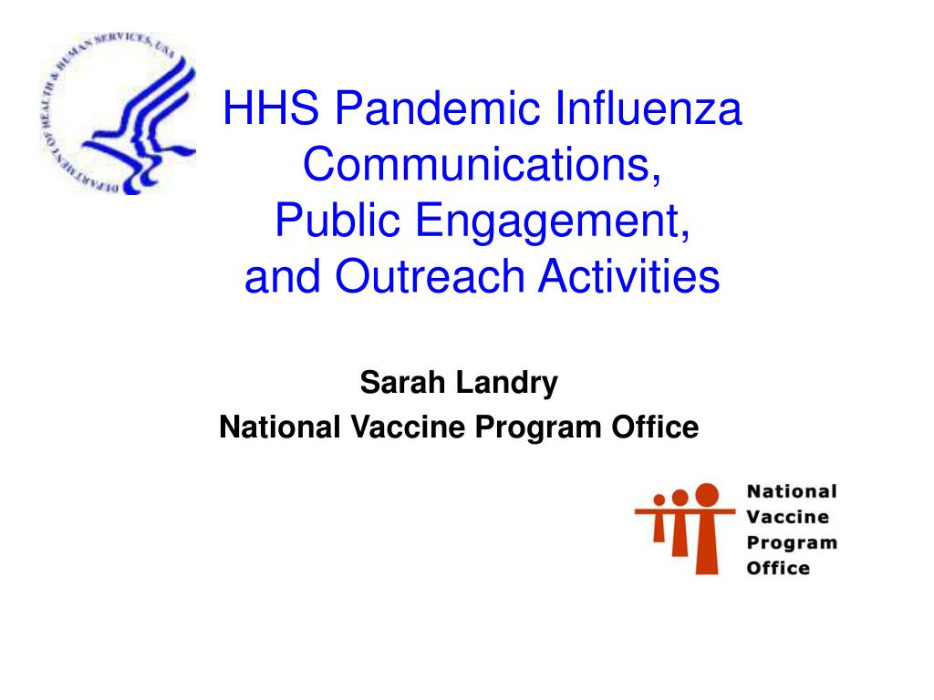 hhs pandemic influenza communications public engagement and outreach activities l.