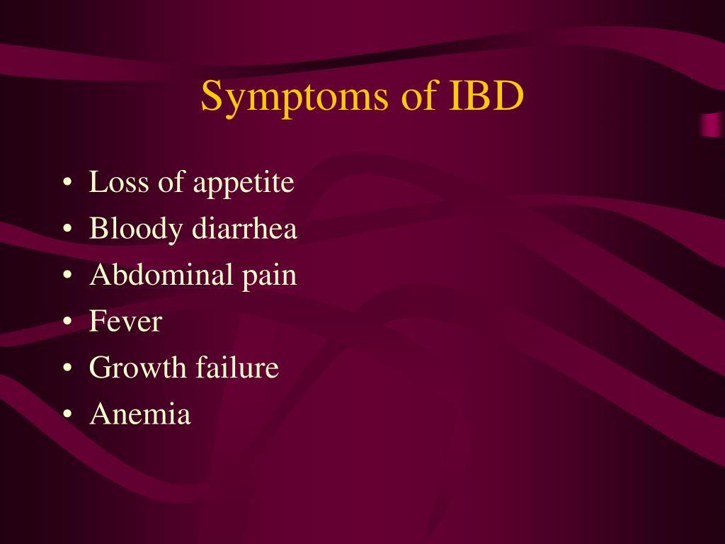 Symptoms of IBD