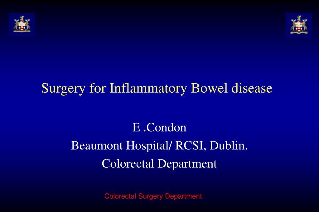 surgery for inflammatory bowel disease l.