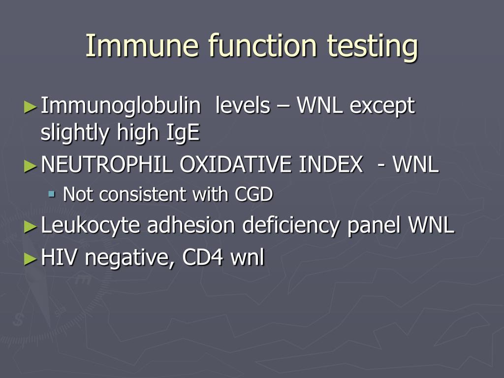 Immune function testing