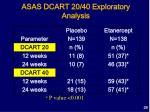 asas dcart 20 40 exploratory analysis