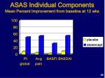 asas individual components mean percent improvement from baseline at 12 wks