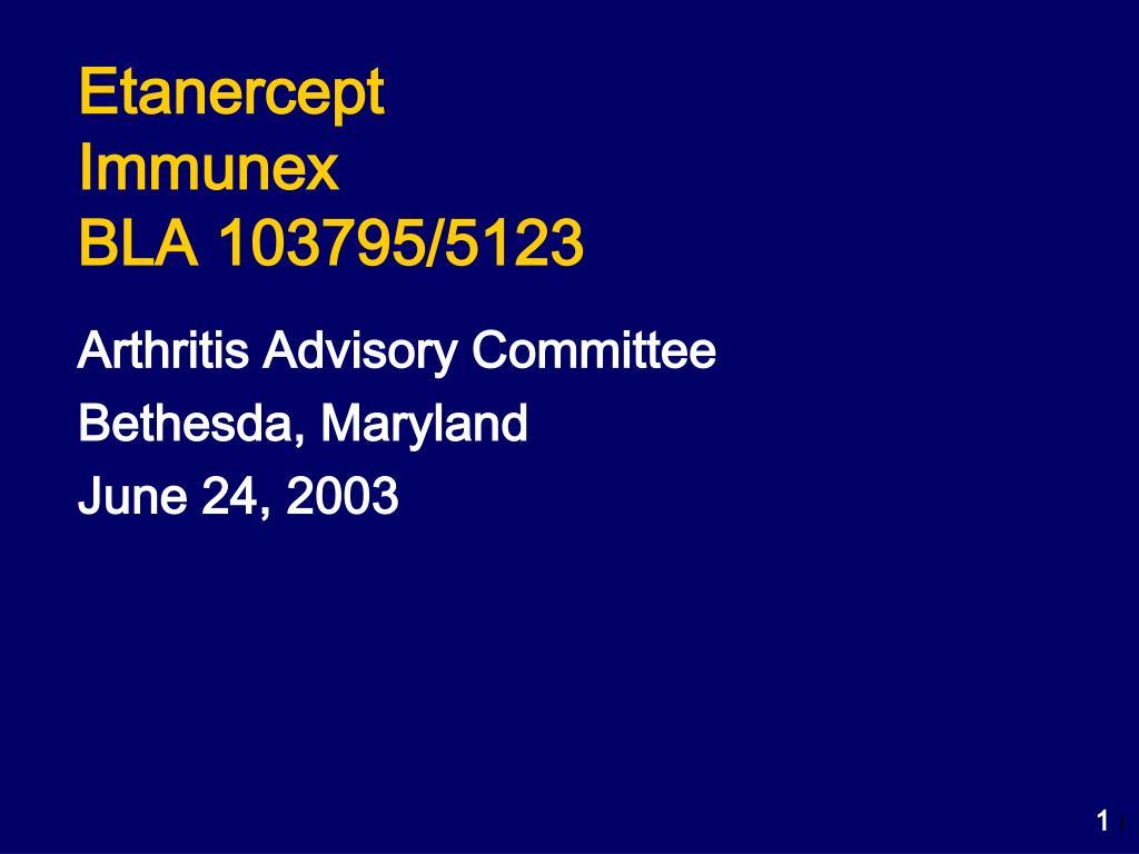 etanercept immunex bla 103795 5123 l.