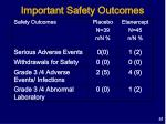 important safety outcomes51