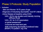 phase 3 protocols study population