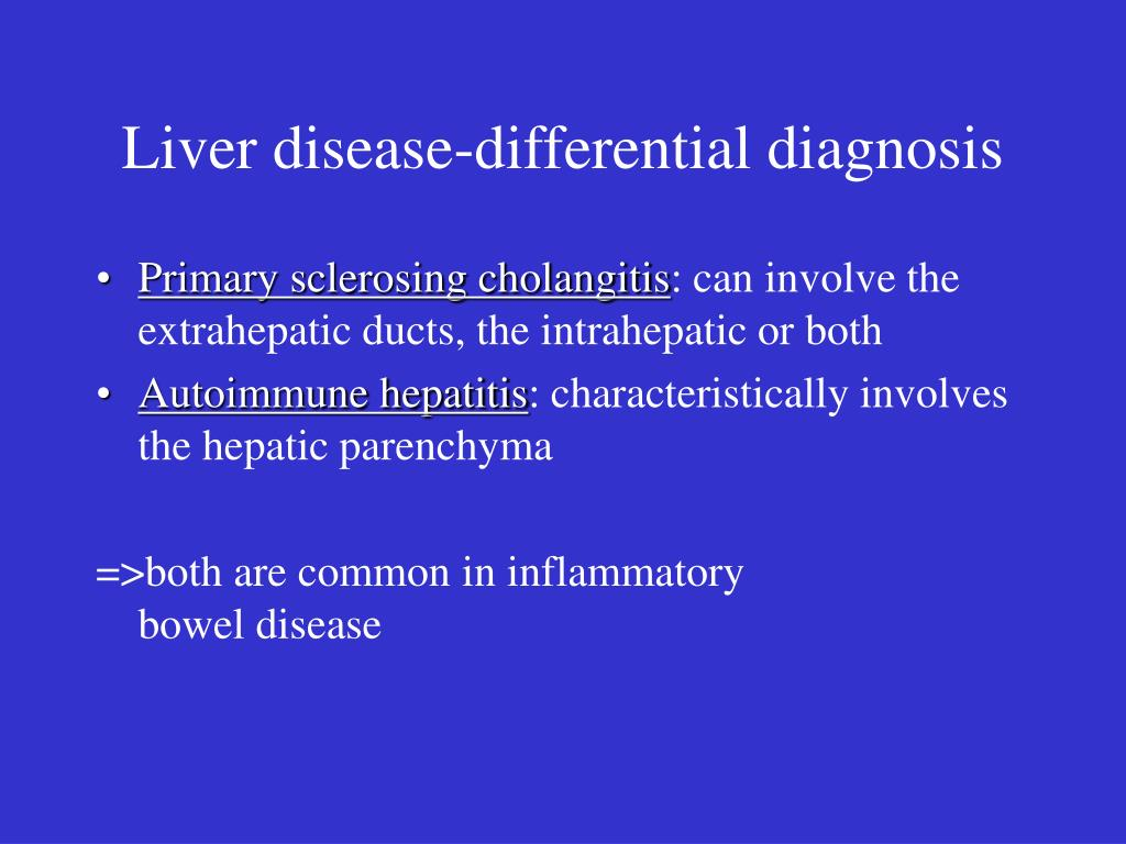Liver disease-differential diagnosis