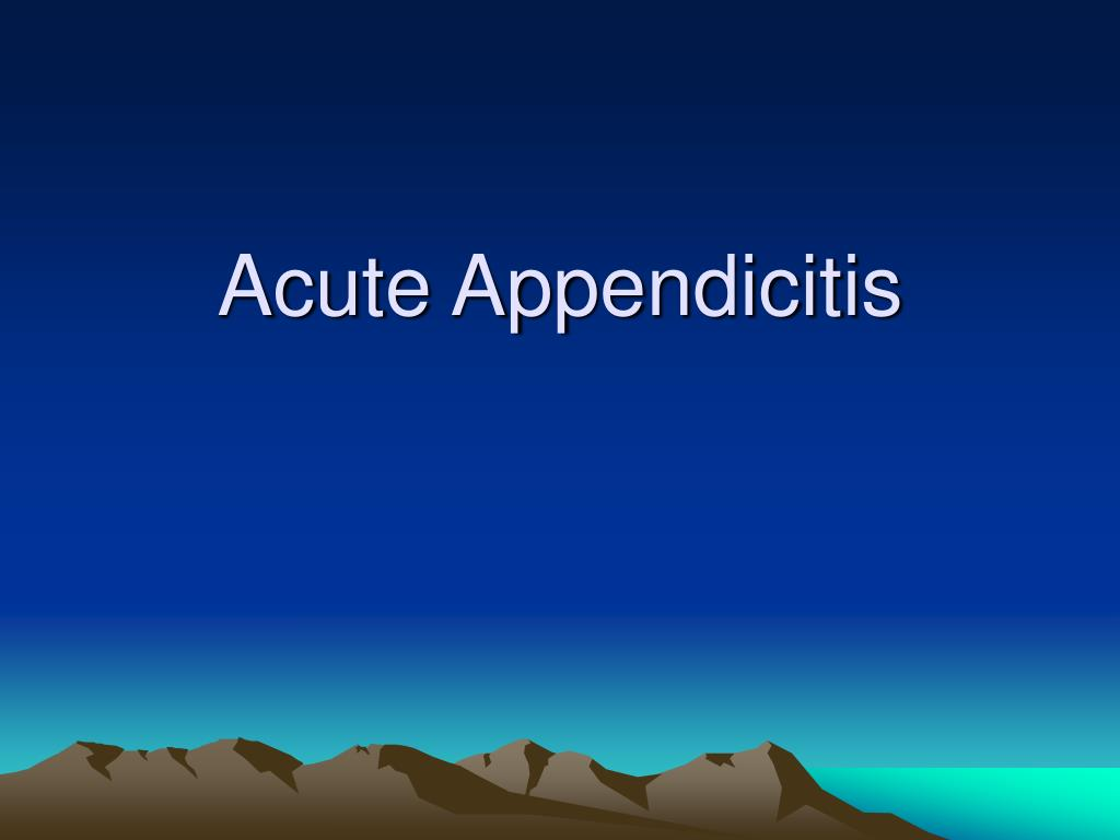 acute appendicitis l.