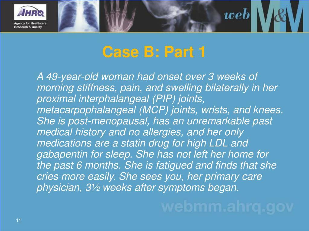 Case B: Part 1