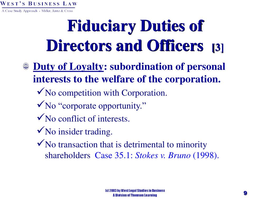 Fiduciary Duties of