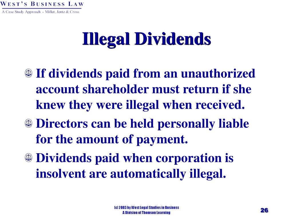 Illegal Dividends