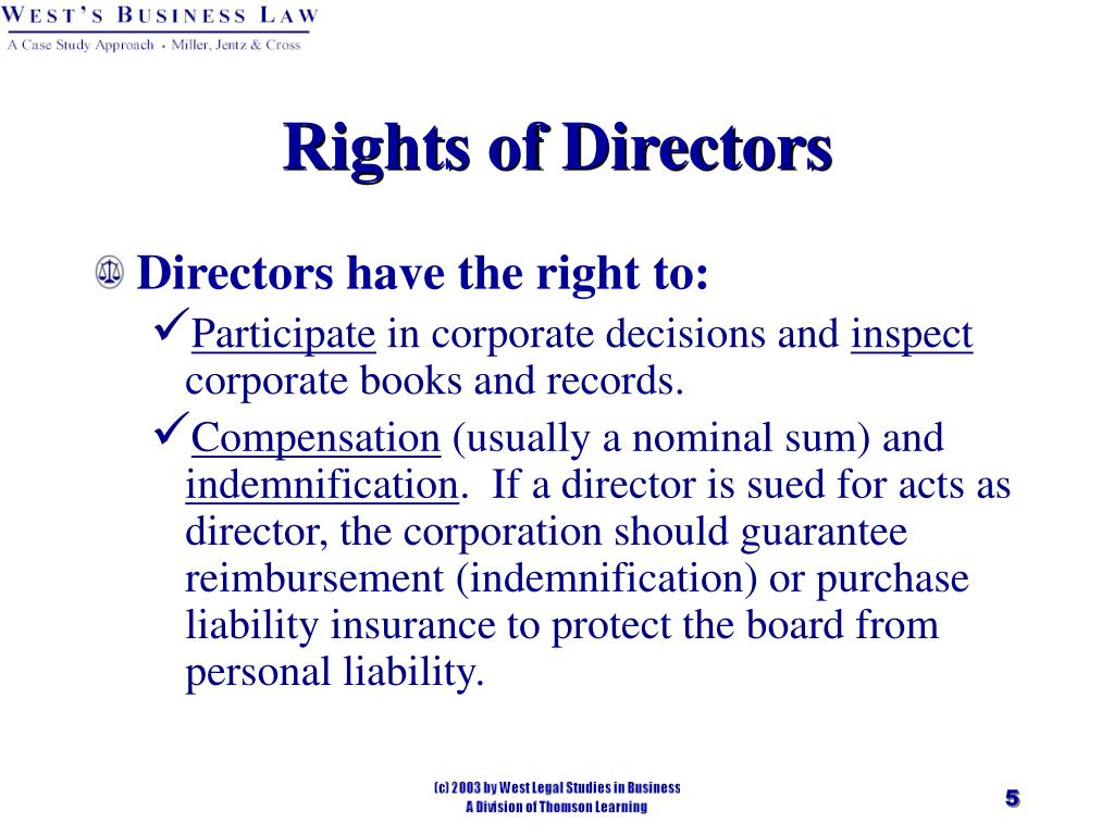 Rights of Directors