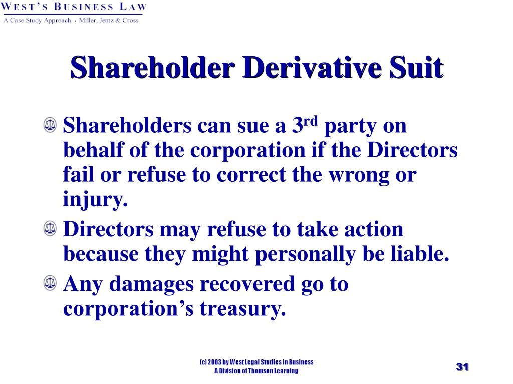 Shareholder Derivative Suit