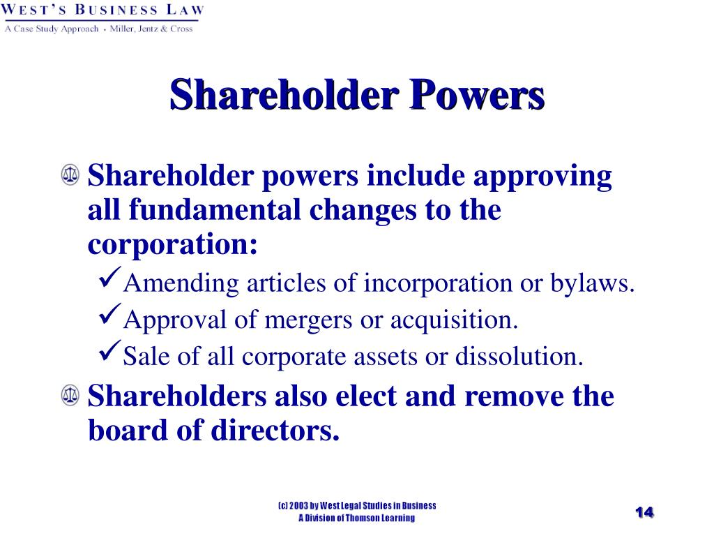 Shareholder Powers