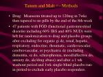 tanum and malt 15 methods