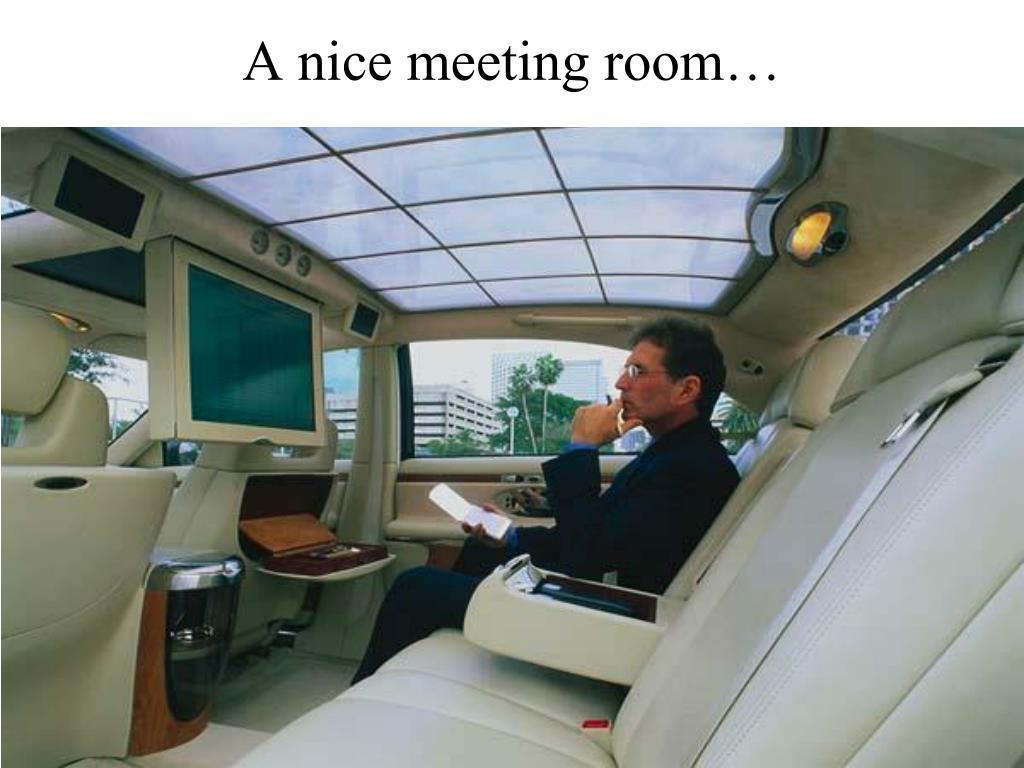 A nice meeting room…