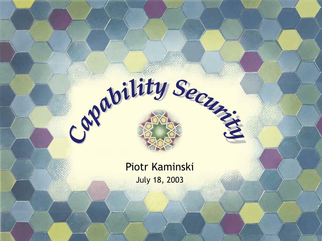 piotr kaminski july 18 2003 l.