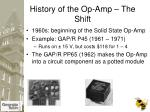 history of the op amp the shift7