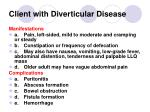 client with diverticular disease144