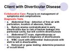 client with diverticular disease145