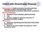client with diverticular disease149