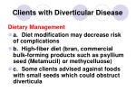 clients with diverticular disease147