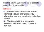 irritable bowel syndrome ibs spastic bowel functional colitis