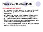 peptic ulcer disease pud