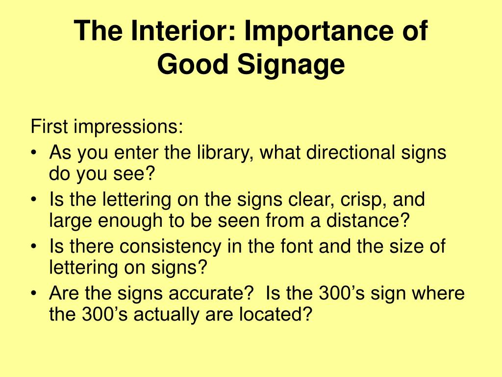 The Interior: Importance of