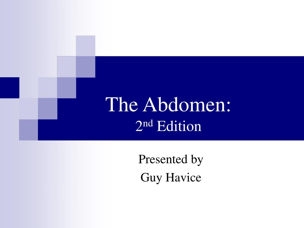 the abdomen 2 nd edition l.