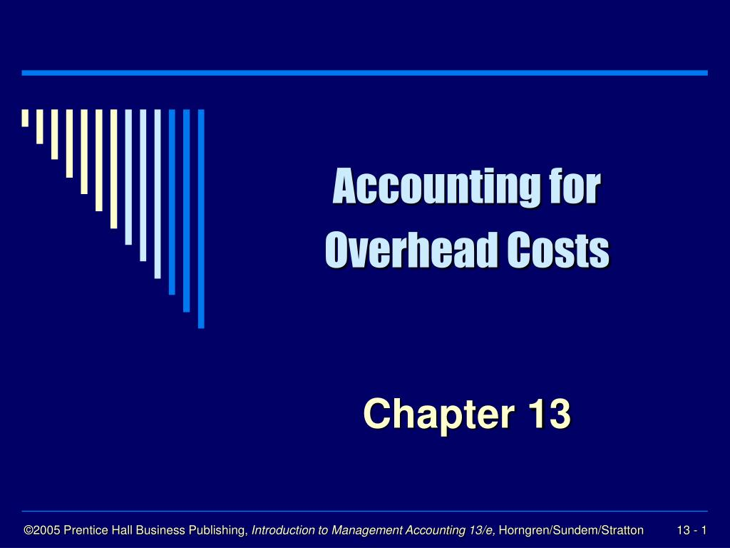 accounting for overhead costs l.