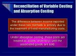 reconciliation of variable costing and absorption costing38