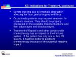 ks indications for treatment continued