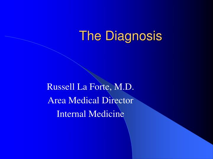 the diagnosis n.