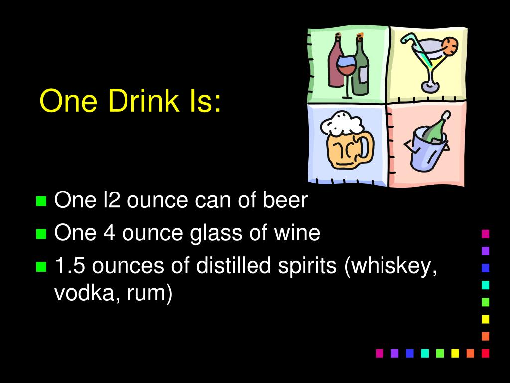 One Drink Is: