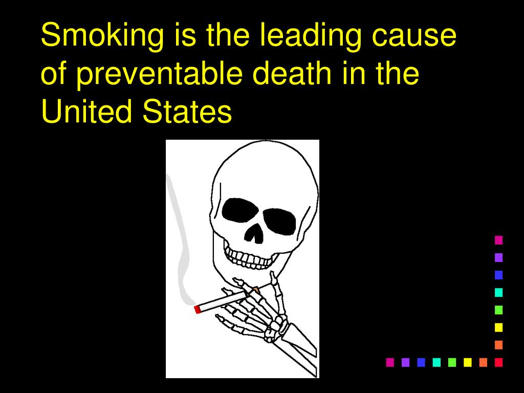 Smoking is the leading cause of preventable death in the United States