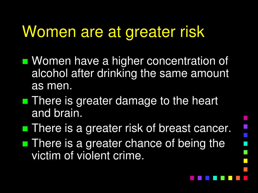 Women are at greater risk