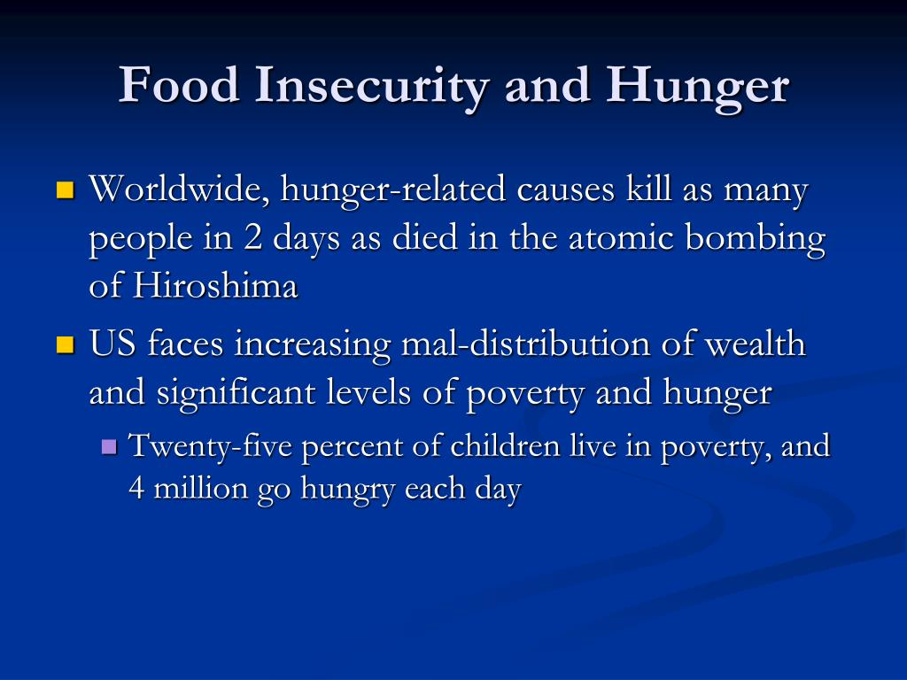 Food Insecurity and Hunger